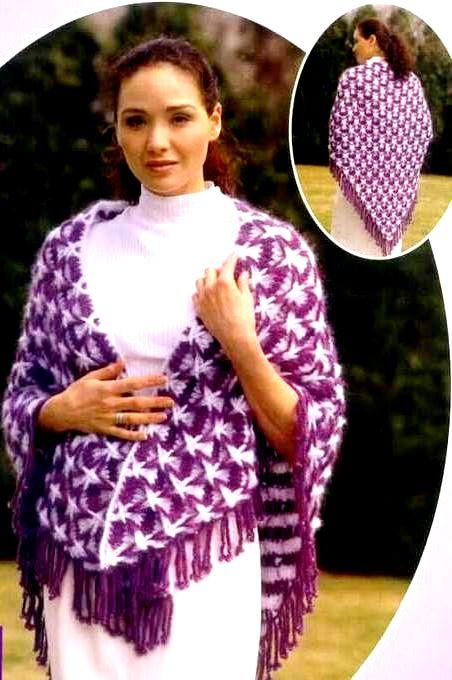 Двухцветная шаль