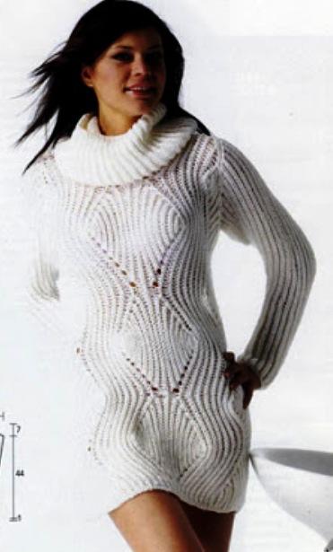 Пуловер с воротником и гетры