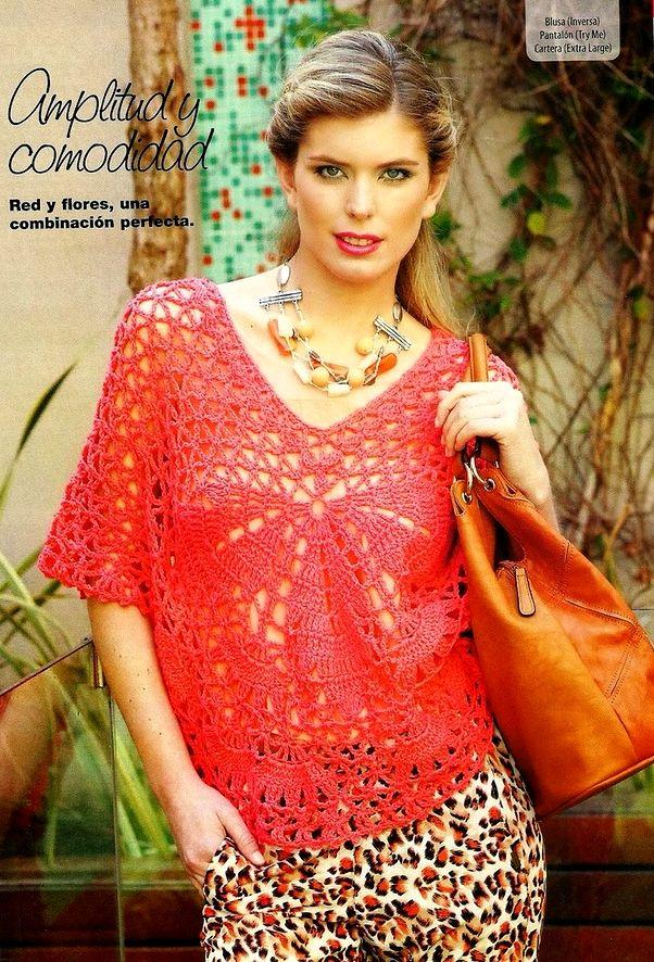 Алая блузка