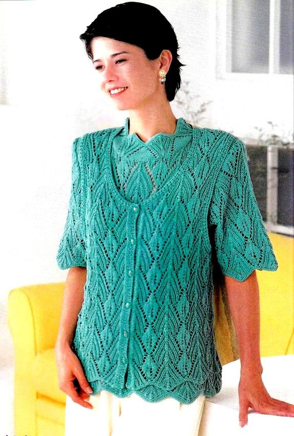 Элегантный комплект: жилет и блузка
