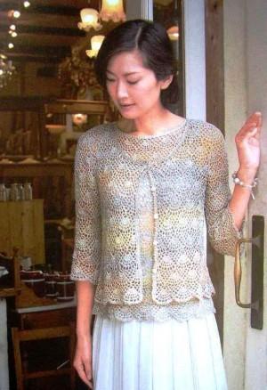 Ажурный комплект: жакет и блузка
