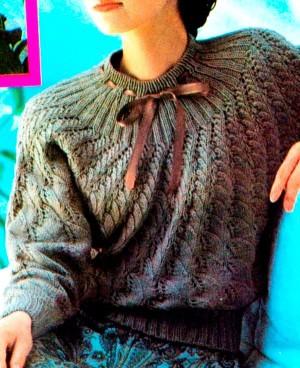 Пуловер, связанный по кругу
