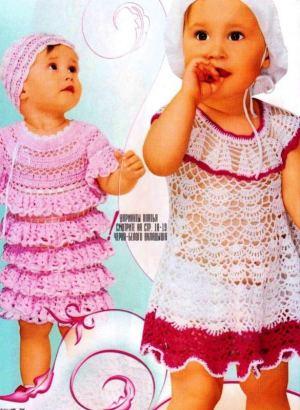 Два платья для девочки на круглой кокетке