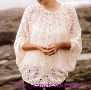 Ажурный жакет от Camellia Dolman из журнала Lovely Knitted Lace.