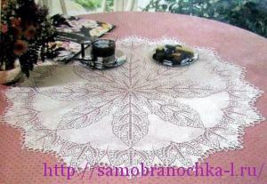 Коллекция салфеток, связанных спицами