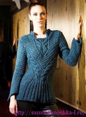 Свитер с рельефным рисунком (Sweater Scarlett).