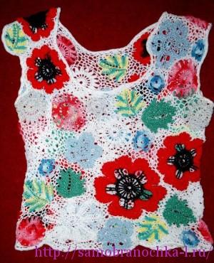 Цветочный топик ( модель из личной коллекции Самобраночки)