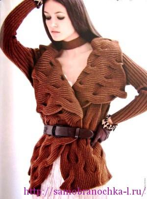 Жакет с волнами из кос – DONNA Speciale maglia