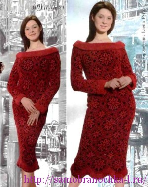 Коллекция ажурных платьев крючком