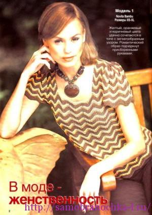 Ажурные блузочки спицами