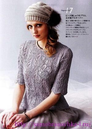 Блузки (вязание спицами)