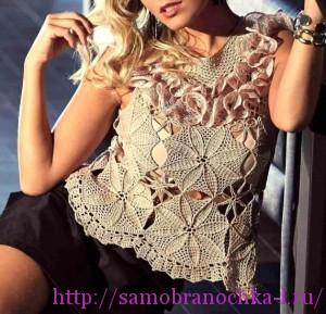 Ажурные блузки с подиума
