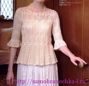 Три ажурные блузы спицами