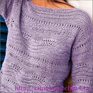 Ажурные пуловеры спицами