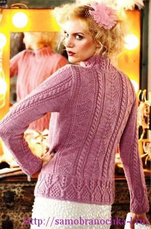 Рельефные пуловеры спицами