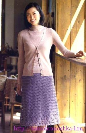 Жакет и юбочка крючком