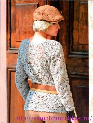 Фейерверк фантазии и мастерства: пуловер. Фриформ.