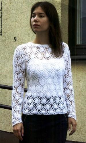 Ажурные пуловеры в коллекцию