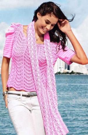 Модные блузки крючком