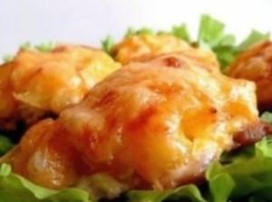 КУРОЧКА, запеченная с ананасами и сыром