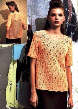 Коллекция летних ажурных блузок спицами