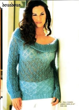 Ажурные пуловеры модницам спицами