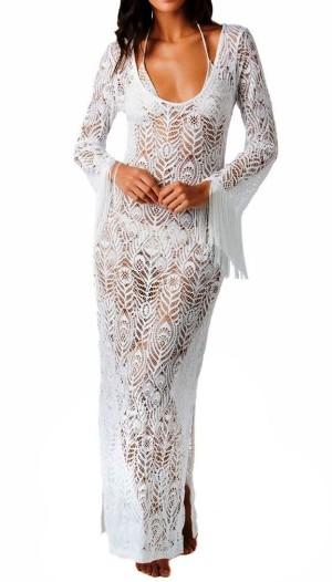 Два сказочно красивых платья спицами