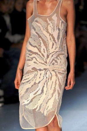 Платья с подиума в филейной технике