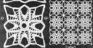 Ажурные многоугольники крючком