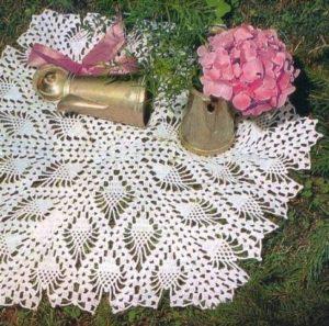 Коллекция ажурных  шалей: ананасы крючком
