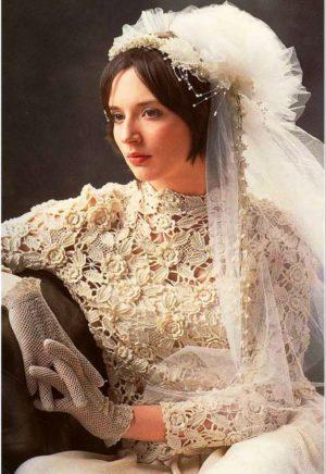 Свадебное платье. Ирландское кружево.