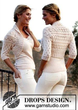 Ажурные двоечки спицами: болеро и блузки