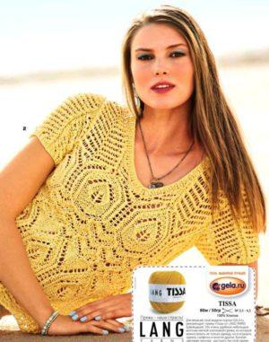Ажурные пуловеры с коротким рукавом