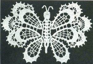 Большая коллекция бабочек крючком